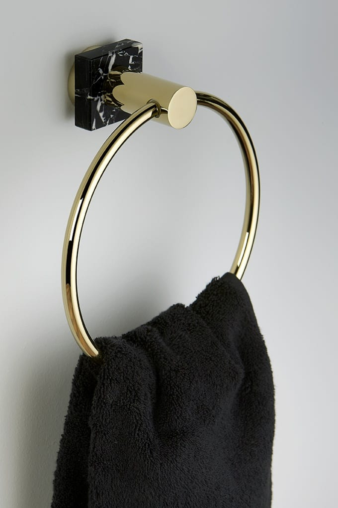 Designerska armatura marki THG Paris - wieszak na ręcznik