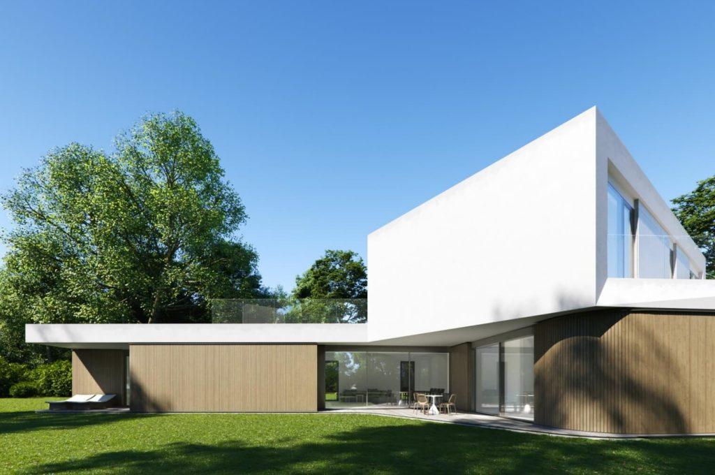 Front Domu Meandrowego projektu pracowni Piotr Banach Architekci