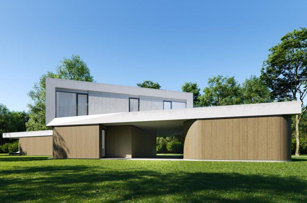 Dom Meandrowy projektu pracowni Piotr Banach Architekci - front