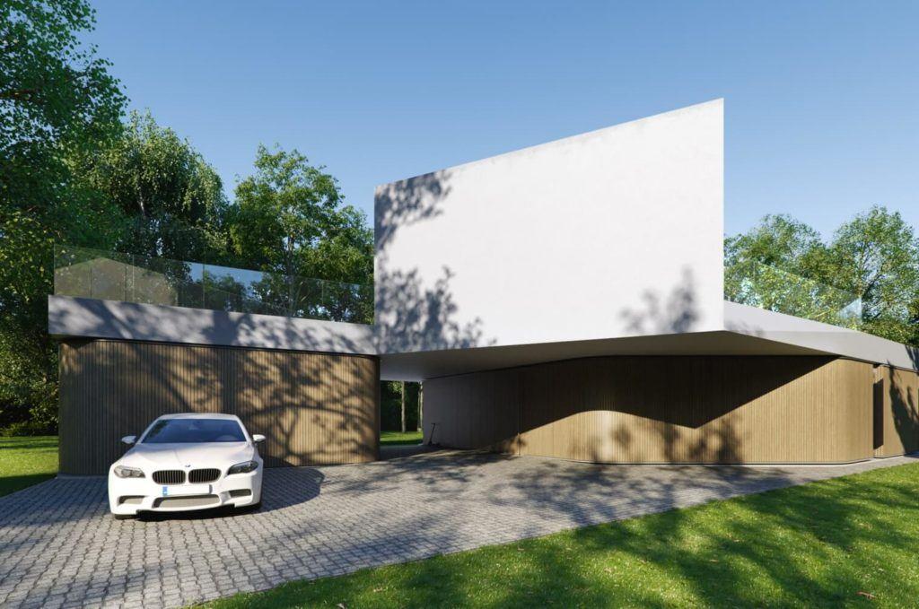 Elewacja Domu Meandrowego projektu pracowni Piotr Banach Architekci