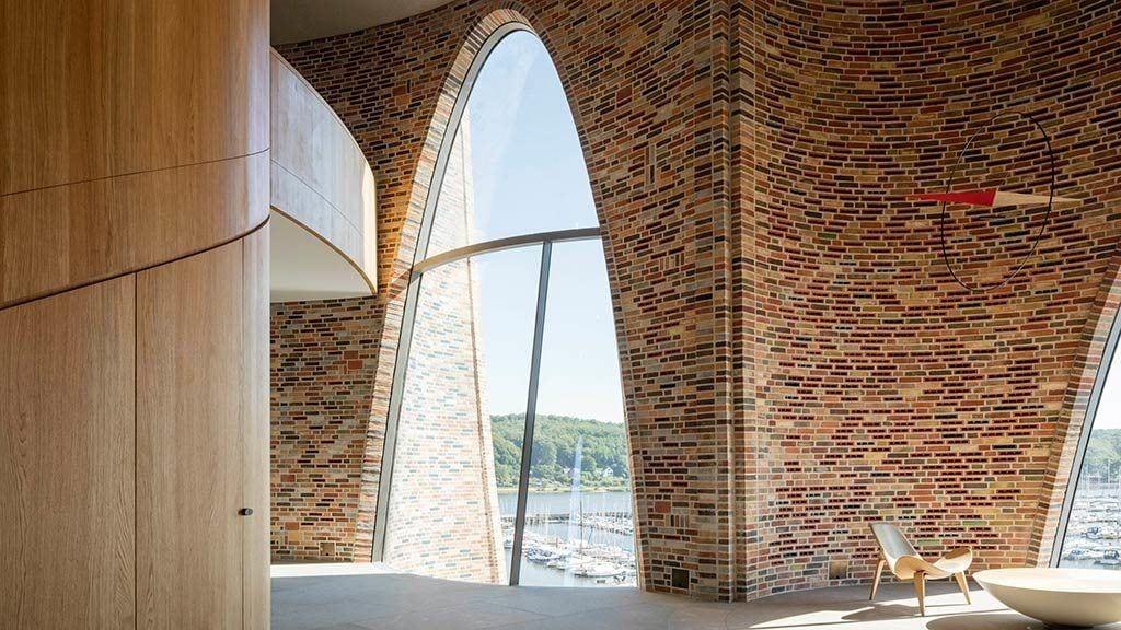 Detal wnętrza z Fjordenhus w Vejle projekt Olafur Eliasson
