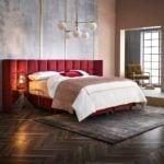 ome&Hotel Solutions - czerwone wezgłowia łózka Hero