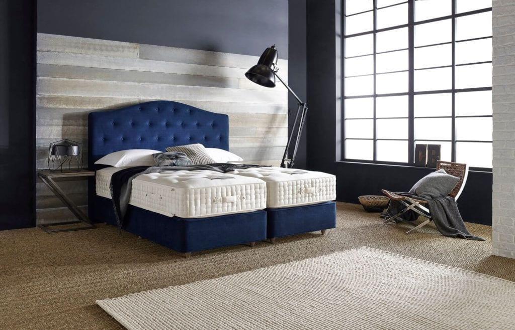 Home & Hotel Solutions - niebieskie wezgłowia łózka Opes #1