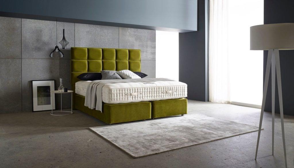 Home & Hotel Solutions - zielone wezgłowia łózka Rego #1