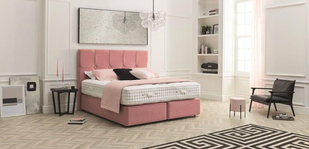 Home & Hotel Solutions - różowe wezgłowia łózka Virtus