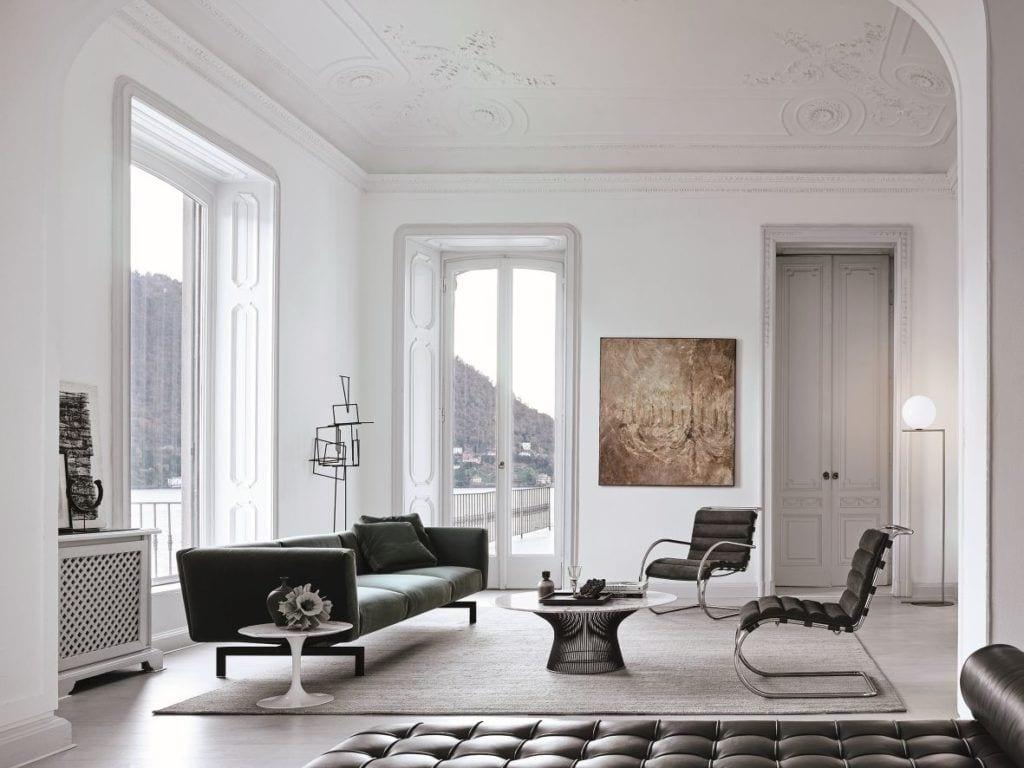 Kolekcja MR autorstwa Ludwiga Miesa van der Rohe w salonie