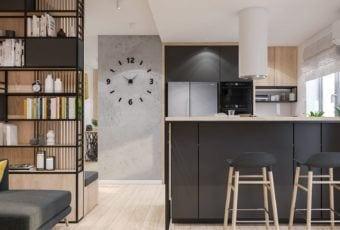 Łódzkie mieszkanie z lekko industrialnymi elementami