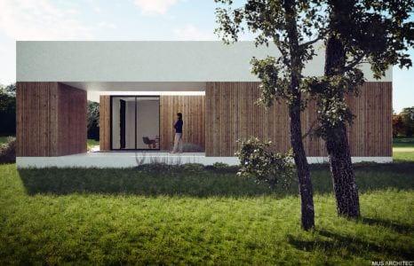 Dom nad Czarną Przemszą projektu Mus Architects