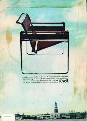 Original poster Wassily Chair designed by Marcel Breuer