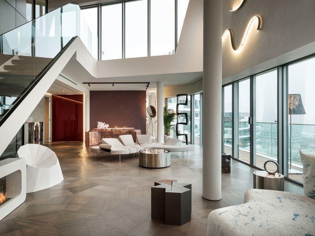 Penthouse One-11 projektu Zaha Hadid Architects