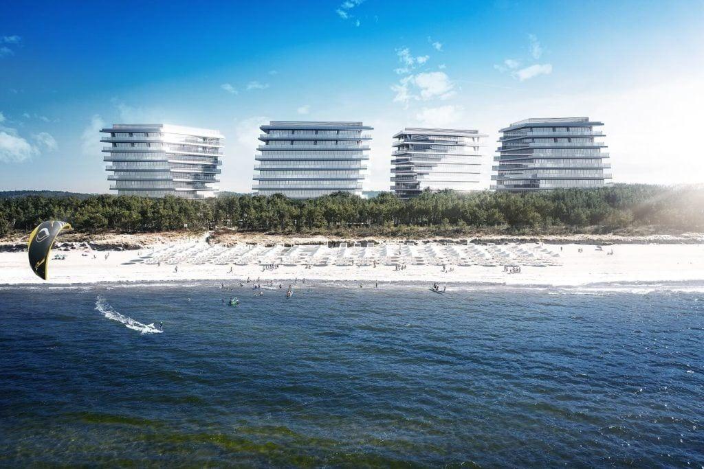 Wave Apartments Międzyzdroje projektu pracowni architektonicznej MODOarchitektura