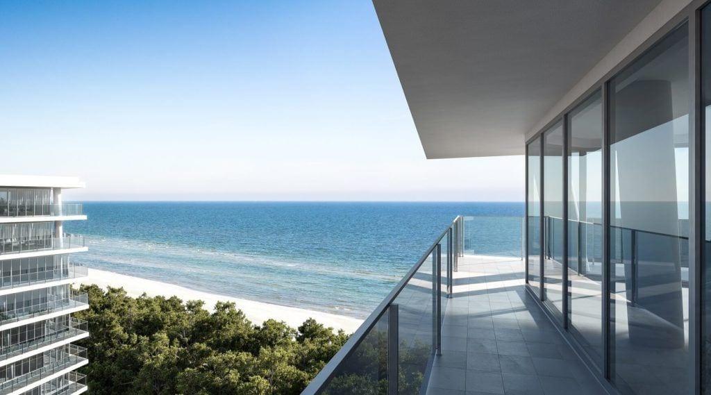 Widok na morze z Wave Apartments Międzyzdroje