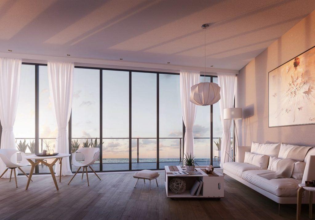 Widok z okien apartamentu w Wave Apartments Międzyzdroje