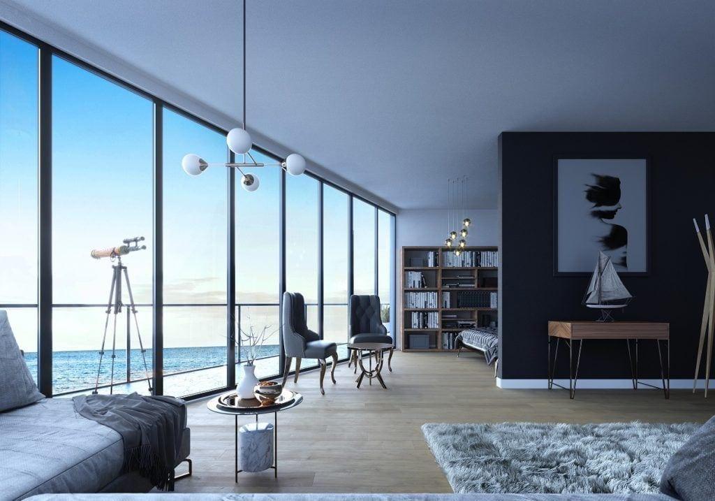 Apartament z pięknym widokiem na Bałtyk w Wave Apartments Międzyzdroje