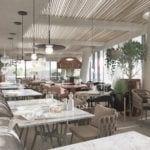 Wnętrze restauracji Wave Apartments Międzyzdroje