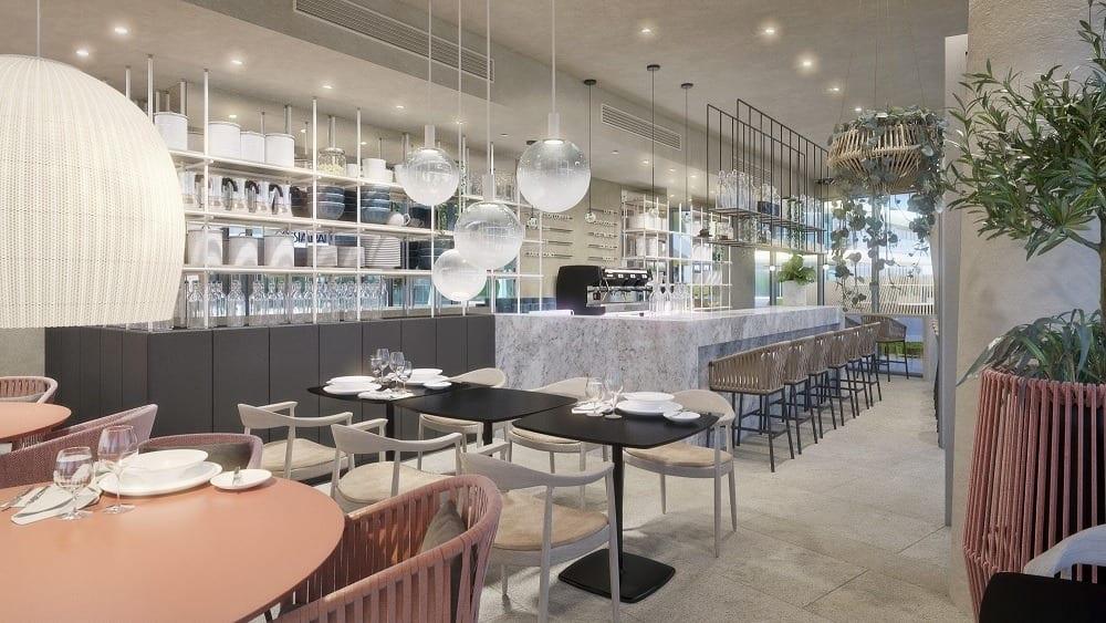 Lampy w restauracji Wave Apartments Międzyzdroje