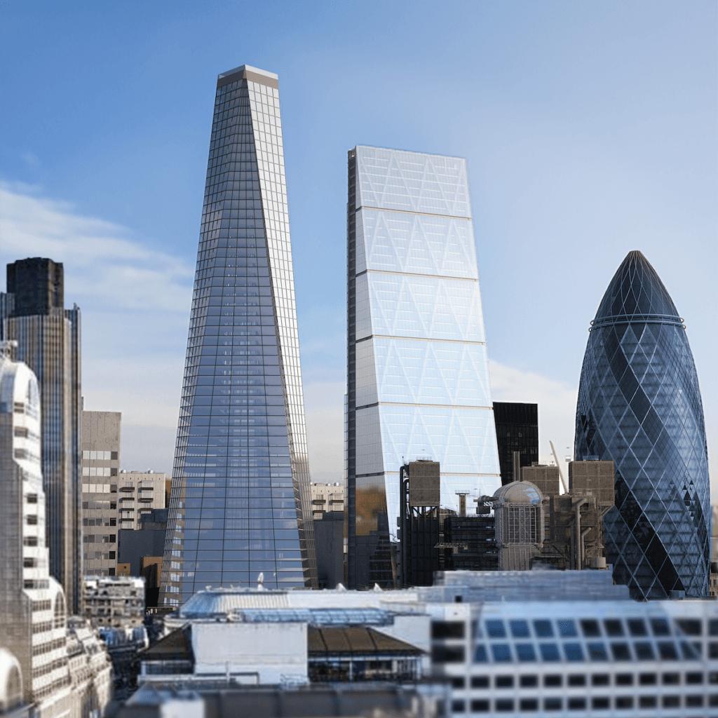 Basen na dachu wieżowca z widokiem na Londyn