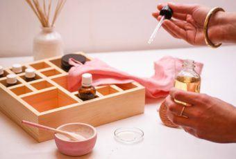 Organizer na kosmetyki Harmony Set od marki Happy Pine