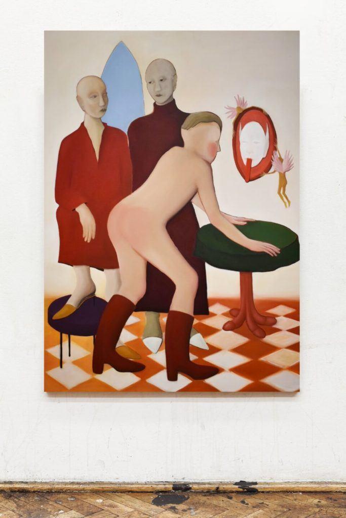 Joanna Woś, Bez tytułu, 2019, olej na płótnie, 180x130 cm