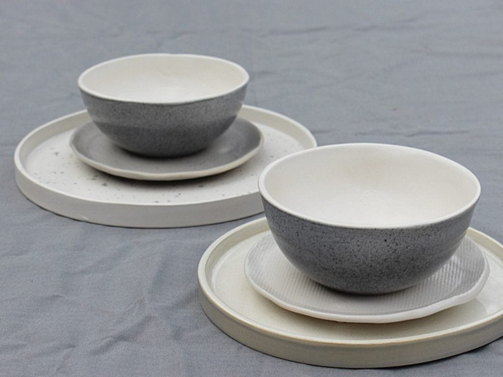 Beżowo-szara ceramika od M2K ceramika