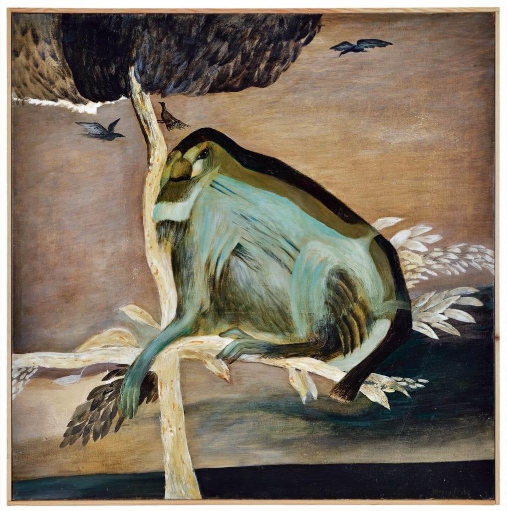 Maria Anto, Małpa, 1994, olej na płótnie, 113x112 cm, dzięki uprzejmości osoby prywatnej - Warsaw Gallery Weekend