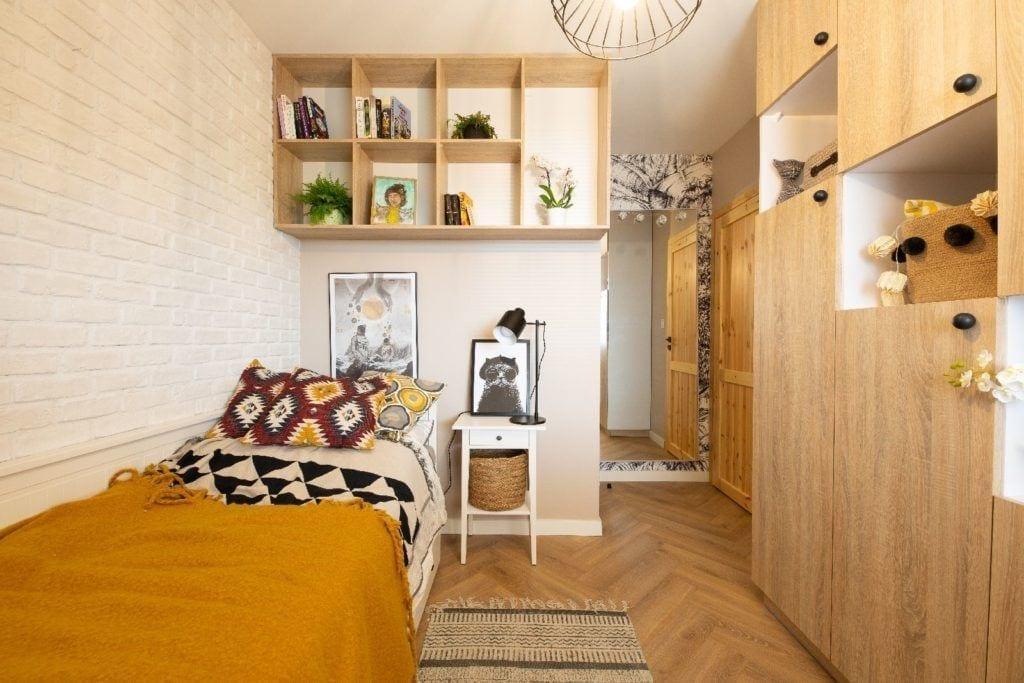Jasna sypialnia projektu pracowni Dobry Układ