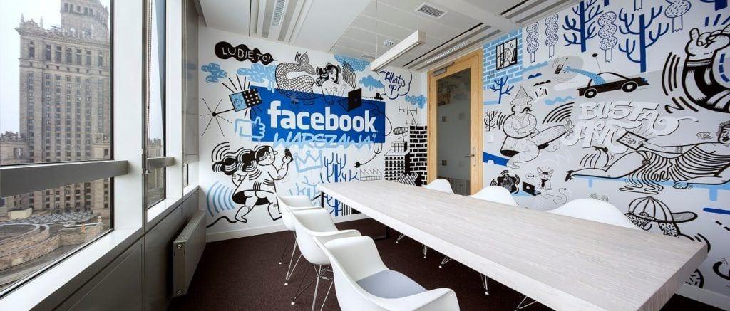 Tapera Facebook w biurze projektu Agata Frątczak Marta Drzymała biuro architektoniczne MADAMA