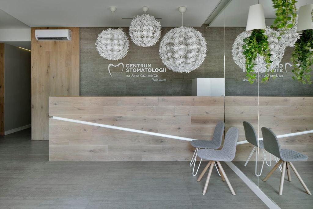 Recepcja - projekt Agata Frątczak Marta Drzymała biuro architektoniczne MADAMA