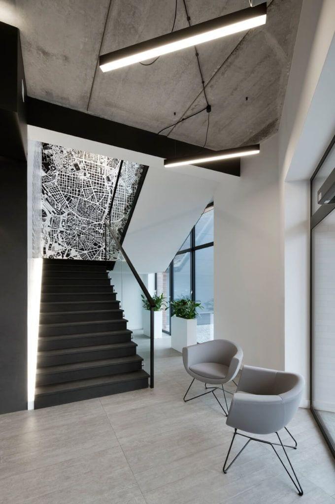 Schody w inwestycji projektu Agata Frątczak Marta Drzymała biuro architektoniczne MADAMA