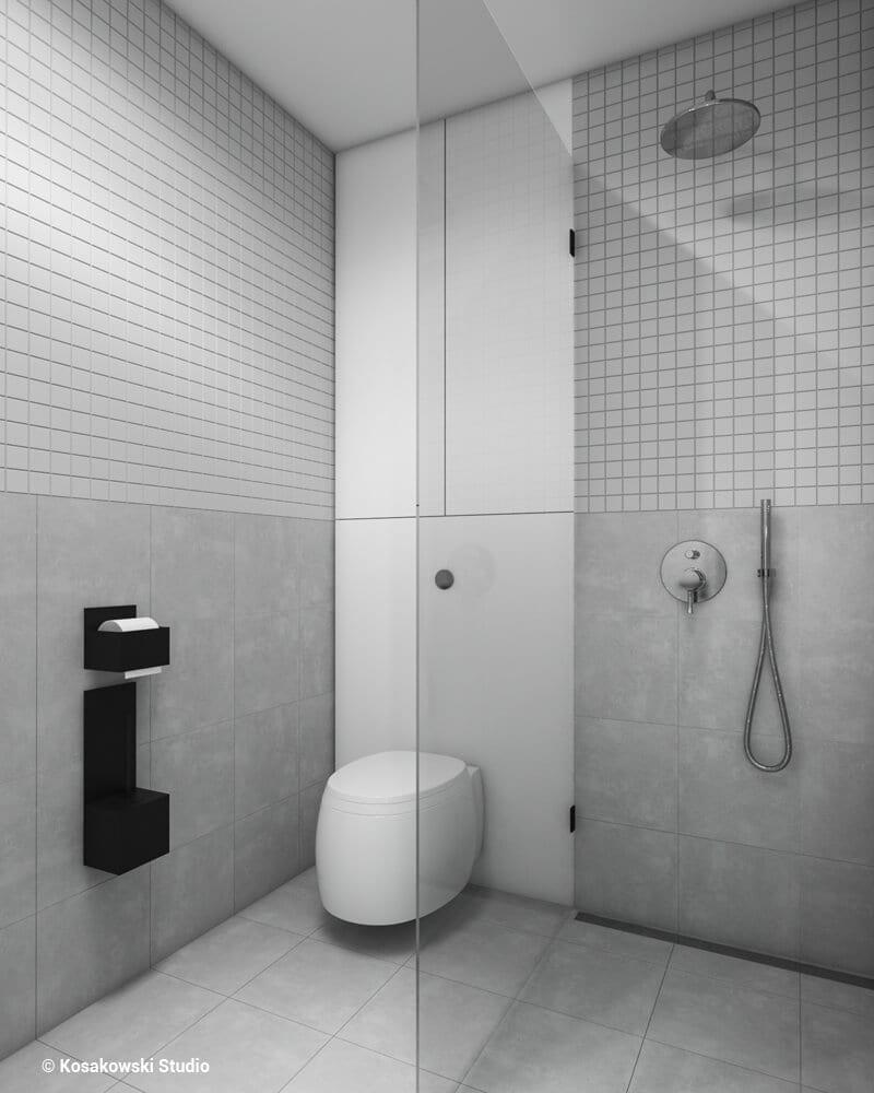 Toaleta w kawalerce Soft Loft projektu Kosakowski Studio