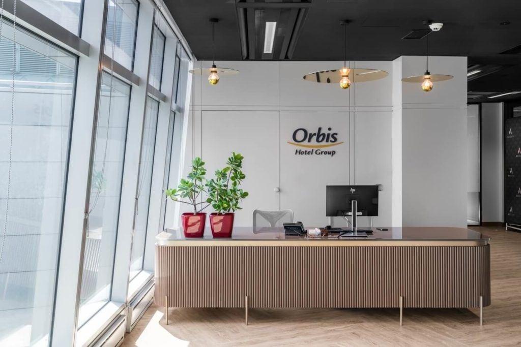 Recepcja w warszawskim biurze Accor i Orbis