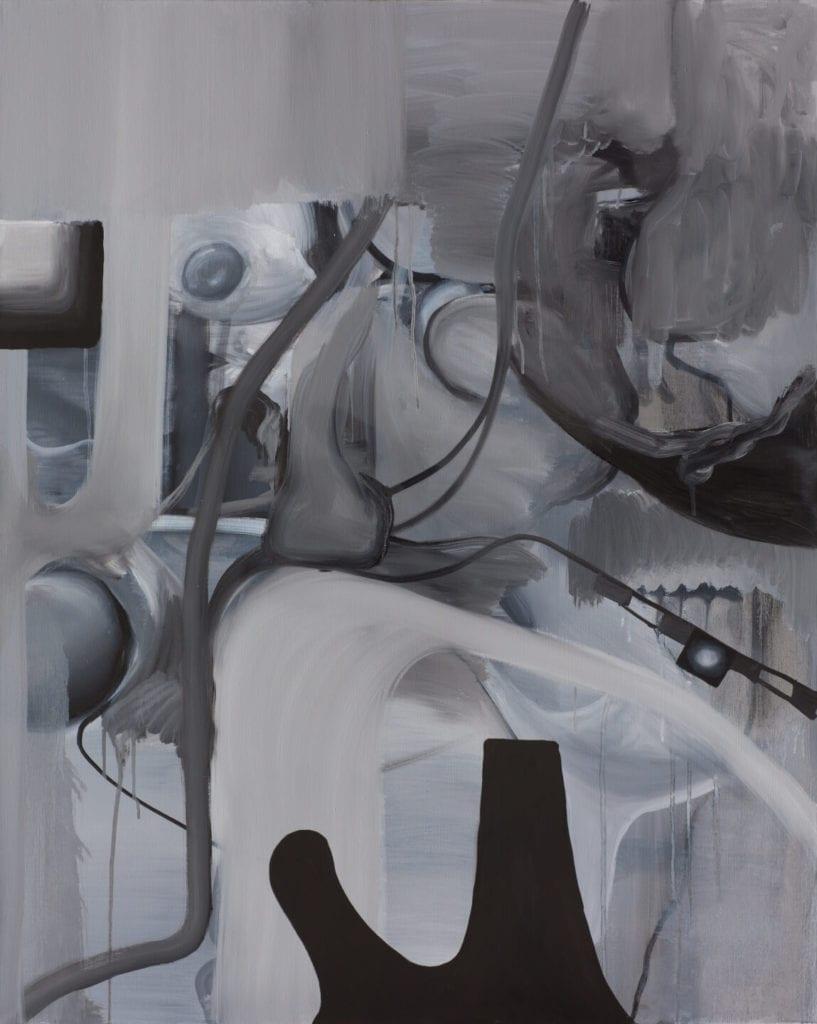 Tymek Borowski, Bez tytułu, 2019, olej na płótnie, 100x80 cm, dzięki uprzejmości artysty i galerii Monopol