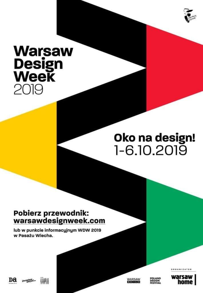 Warsaw Design Week 2019 - tydzień designu w Warszawie - plakat wydarzenia