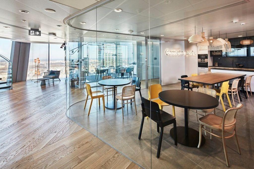 Warszawskie biuro kancelarii White & Case LPP - Strefa relaksu i kuchnia