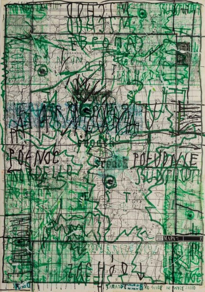 Wojciech Kucharczyk, Fulguryty, 1995, matryca do kserografii barwna, 401x382 mm, dzięki uprzejmości artysty i Galerii Szara - Warsaw Gallery Weekend