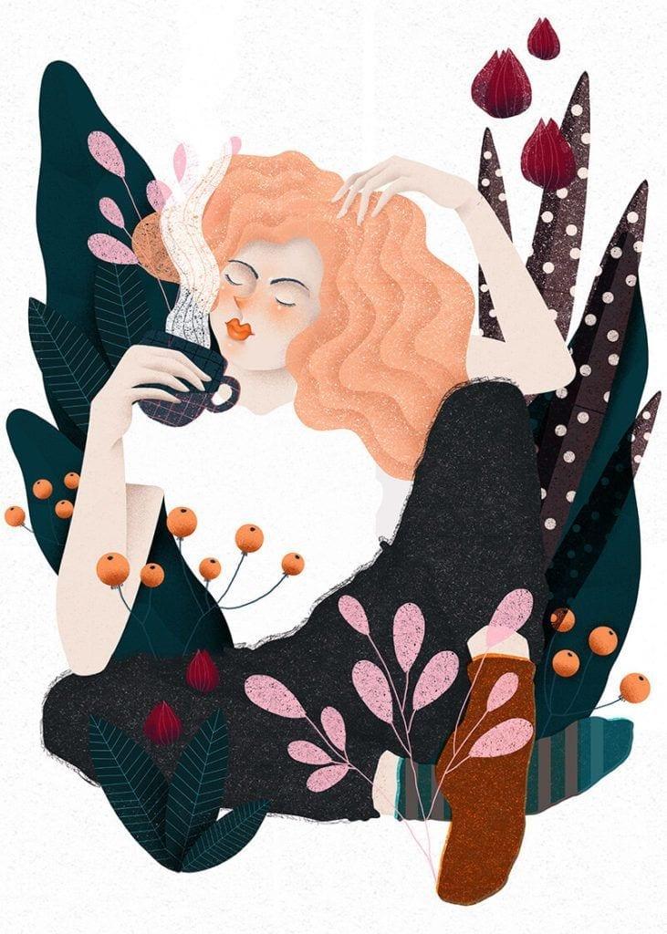 About a girl - kolekcja kobiecych plakatów Wall-being - Coffee - Anna Rudak