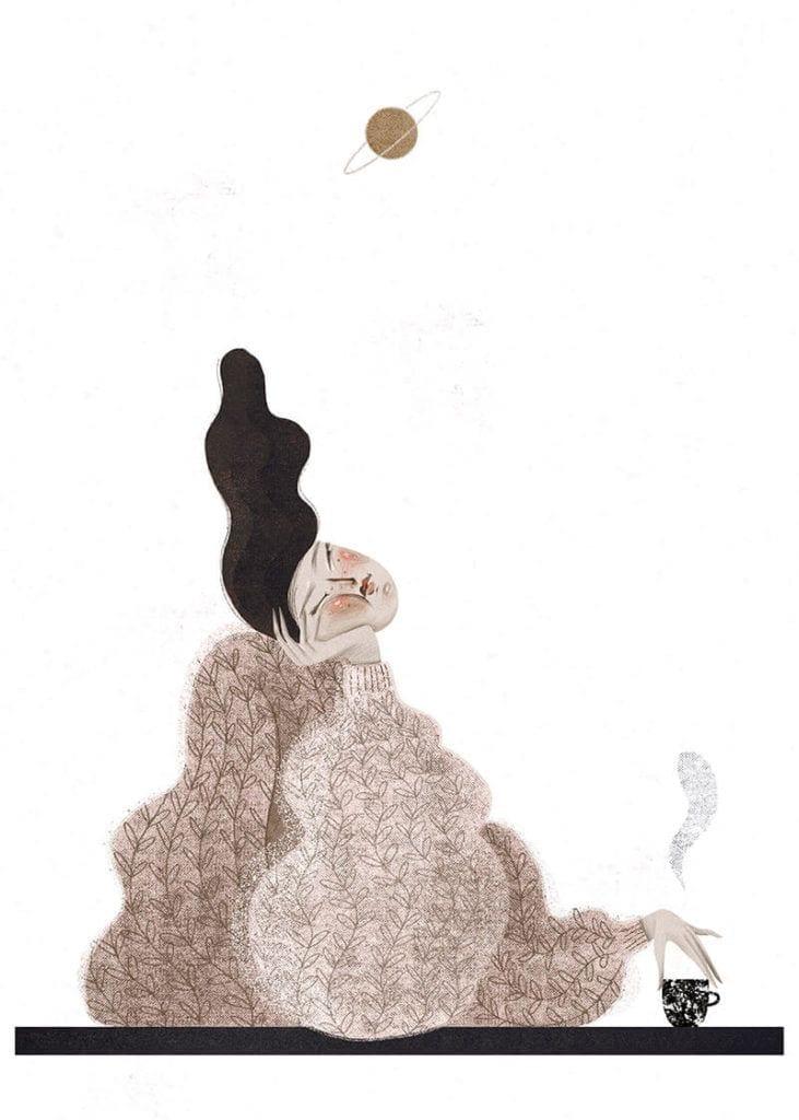 About a girl - kolekcja kobiecych plakatów Wall-being - Daydream - Anna Rudak