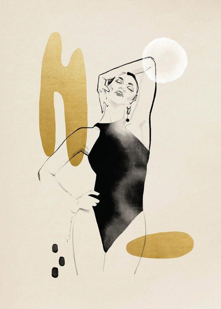 About a girl - kolekcja kobiecych plakatów Wall-being - Gold I - Magdalena Pankiewicz