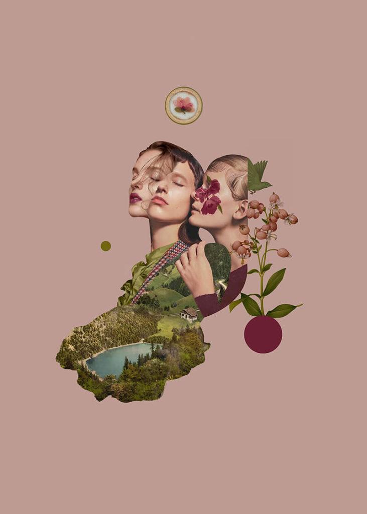 About a girl - kolekcja kobiecych plakatów Wall-being - Halfworlds dusty pink - Aleksandra Morawiak