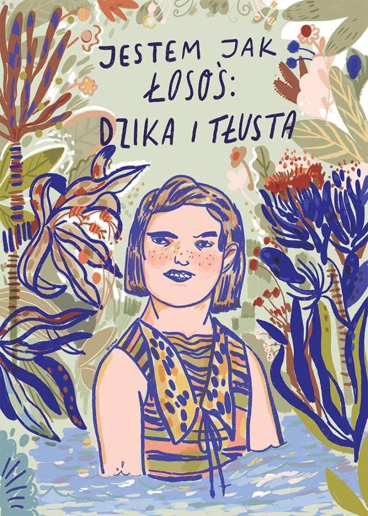 About a girl - kolekcja kobiecych plakatów Wall-being - Łosoś - Ola Szmida