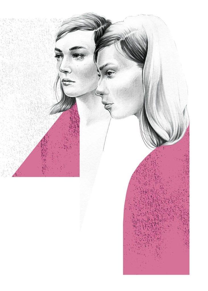 About a girl - kolekcja kobiecych plakatów Wall-being - Pink- Ewelina Dymek
