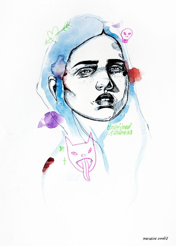 About a girl - kolekcja kobiecych plakatów Wall-being - Undefined Sadness - Marcelina Amelia