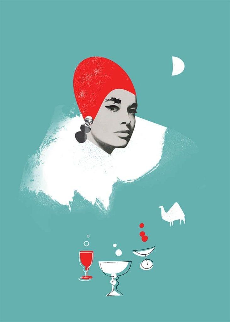 About a girl - kolekcja kobiecych plakatów Wall-being - Vintage Lady II - Magda Pilaczyńska