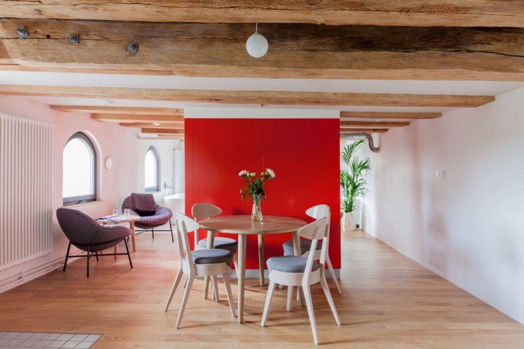 Apartamenty Monka - Apartamenty Toruń - Biuro architektoniczne Znamy się - Jadalnia