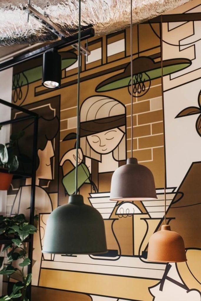 Biuro intive Wrocław projektu pracowni MIXD - mural