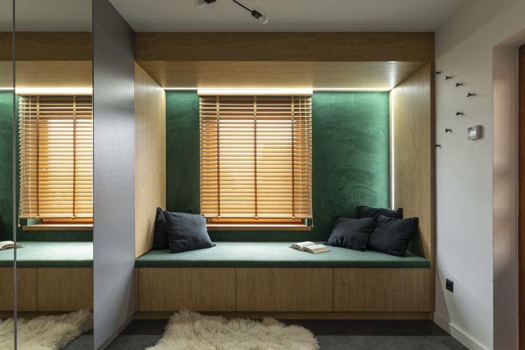 Kącik do odpoczynku w domu projektu pracowni Kaza Interior Design