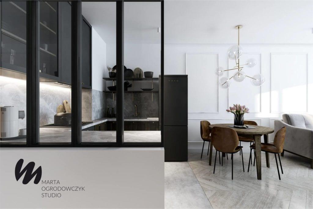 Łódzkie mieszkanie w paryskim stylu - Marta Ogrodowczyk Studio - Marta Ogrodowczyk, Marta Piórkowska - pokój dzienny