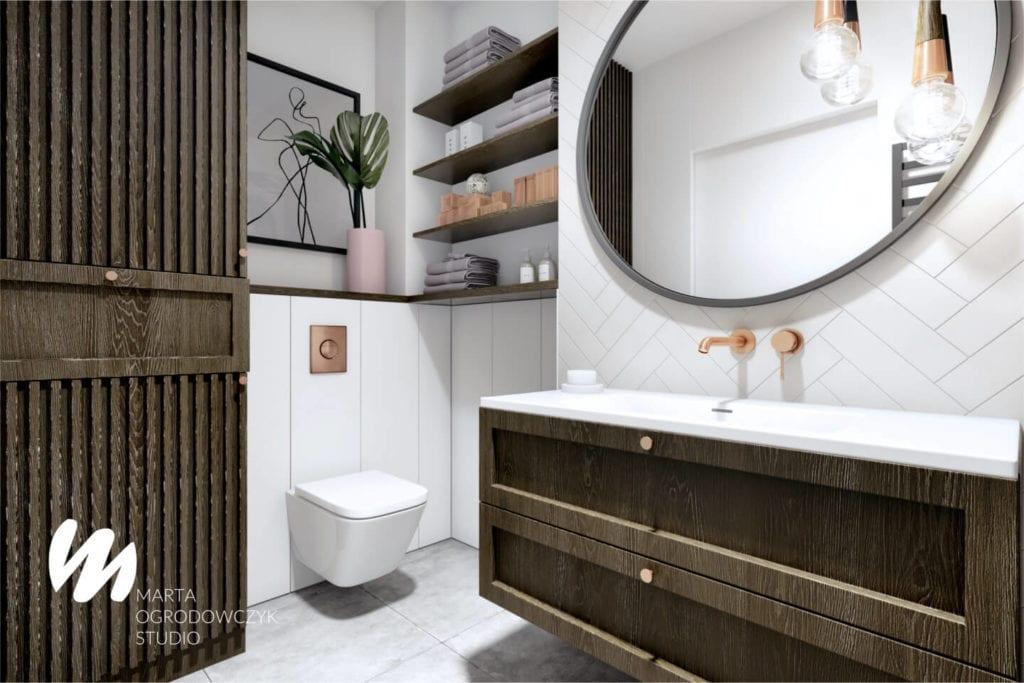 Łódzkie mieszkanie w paryskim stylu - Marta Ogrodowczyk Studio - Marta Ogrodowczyk, Marta Piórkowska - łazienka