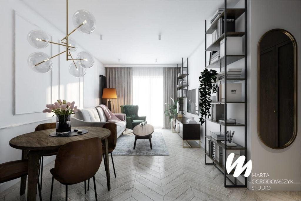 Łódzkie mieszkanie w paryskim stylu - Marta Ogrodowczyk Studio - Marta Ogrodowczyk, Marta Piórkowska - salon