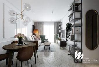 Łódzkie mieszkanie w paryskim stylu